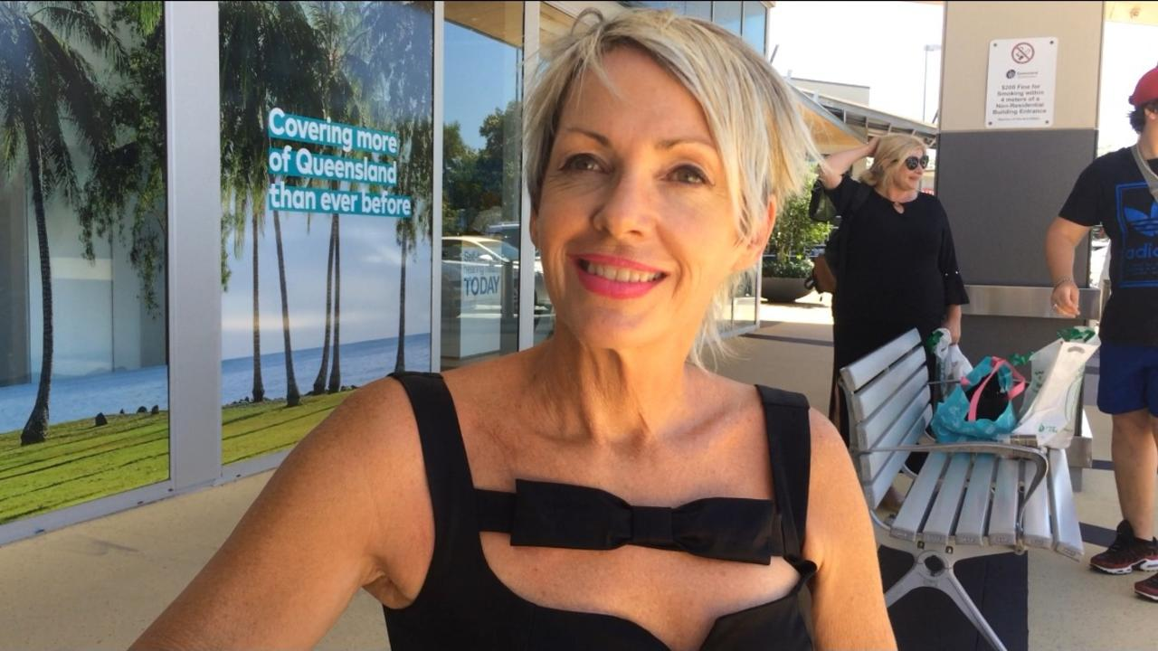UNUSUAL ANATOMY: Council candidate Janet Kake bravely describes some interesting parts of her body.