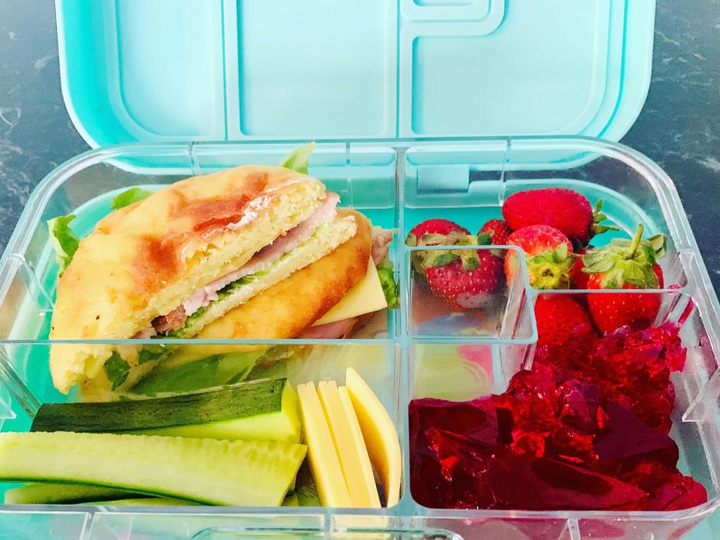 Katie's typical keto-friendly lunch box. Picture: Contributed.