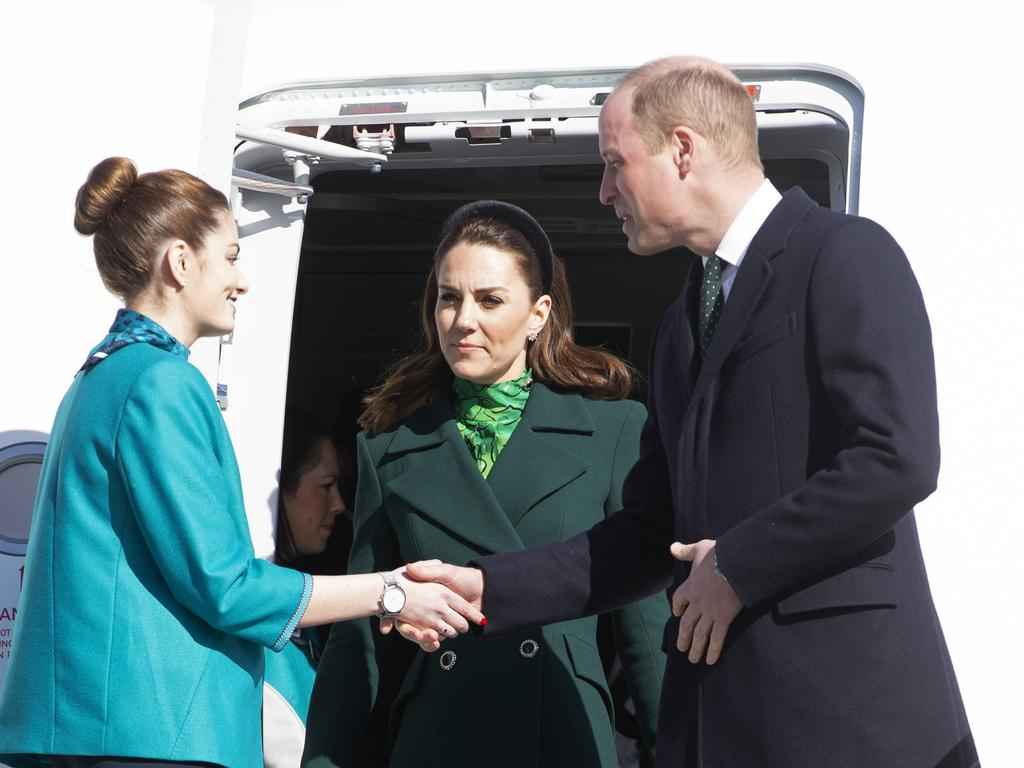 The couple haven't shied away from shaking hands on their Irish tour. Picture: Getty Images
