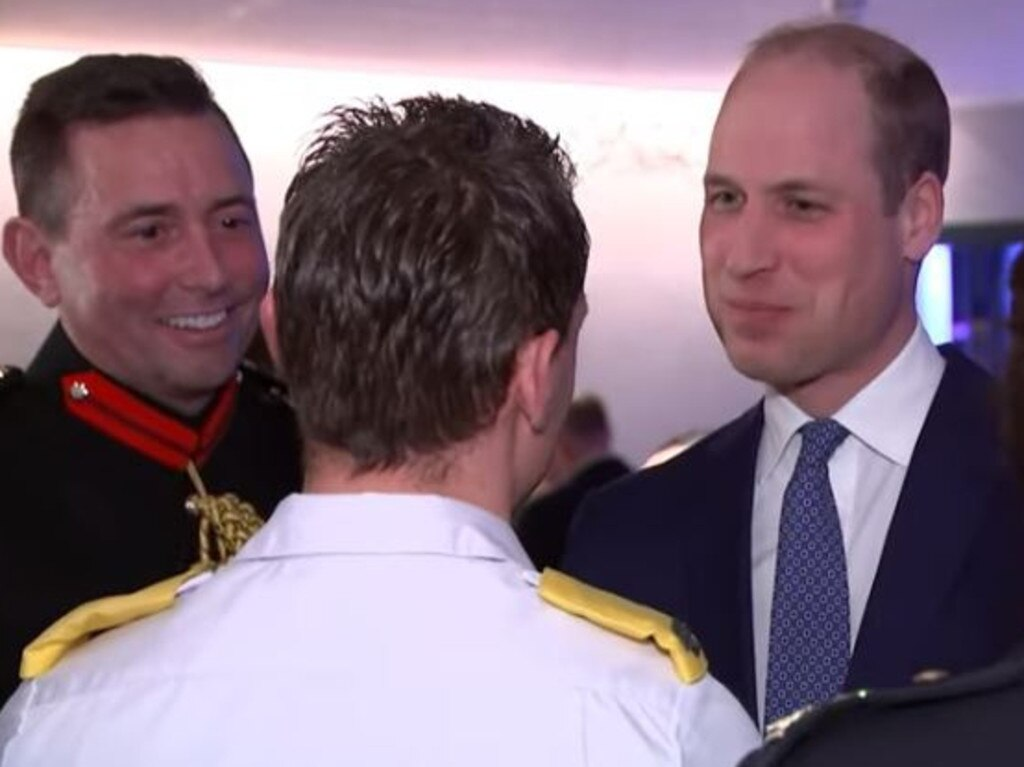 "Prince William asked the paramedic whether the coronavirus was being ""hyped up by the media"". Picture: YouTube"