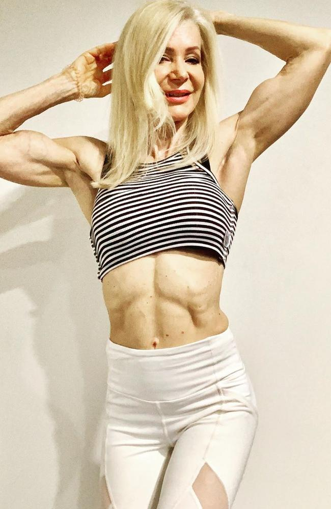 The grandmother-of-three was in the beauty industry as a makeup artist before making the switch to fitness. Picture: Instagram / lesleymaxwell.fitness
