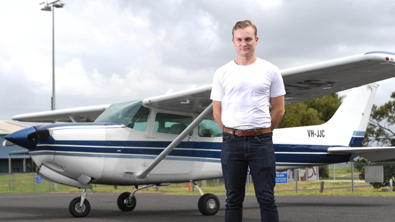SOARING: Alex Kingsford Smith, 25, is the great-great nephew of Sir Charles Kingsford Smith, and has just qualified as a commercial pilot. Photo: Marc Stapelberg