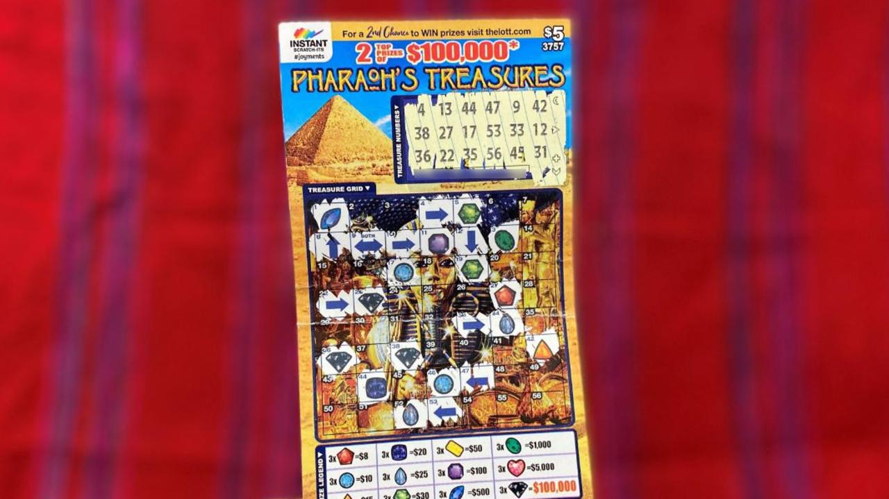 The winning Instant Scratch-Its ticket that scored a Townsville resident $100,000