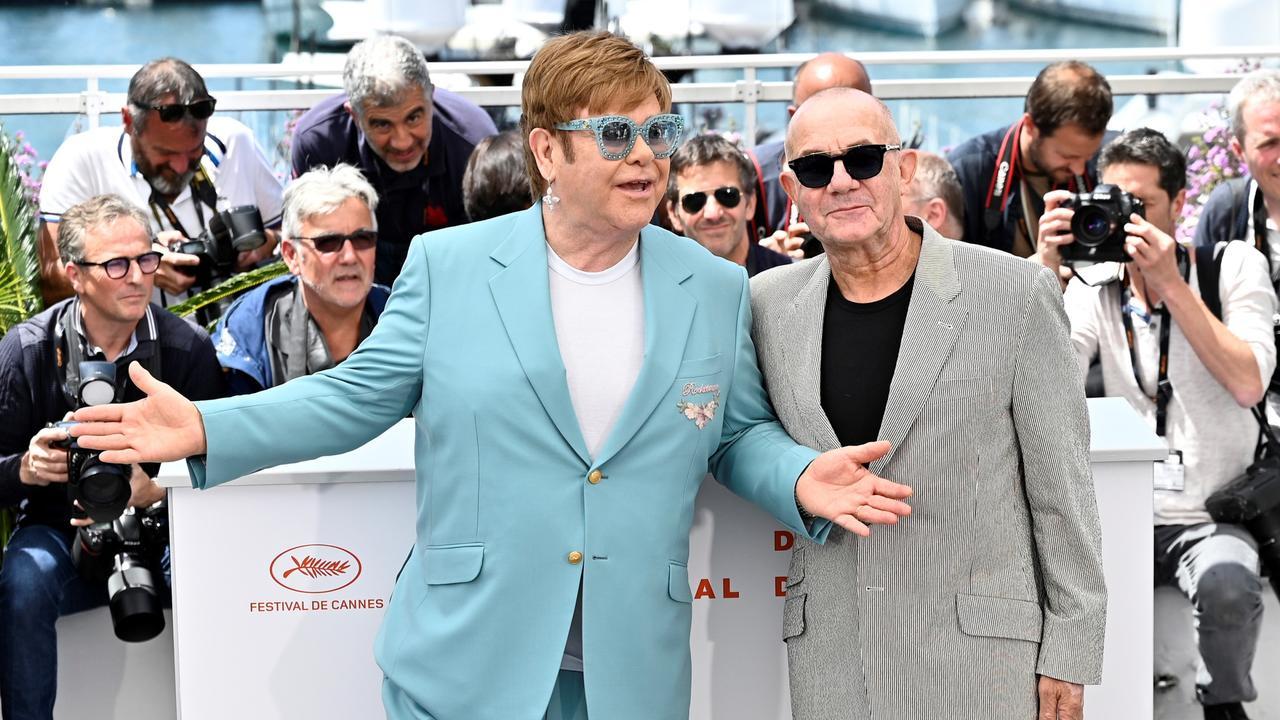 Sir Elton John and British lyricist Bernie Taupin. Photo: Mustafa Yalcin/Anadolu Agency/Getty Images