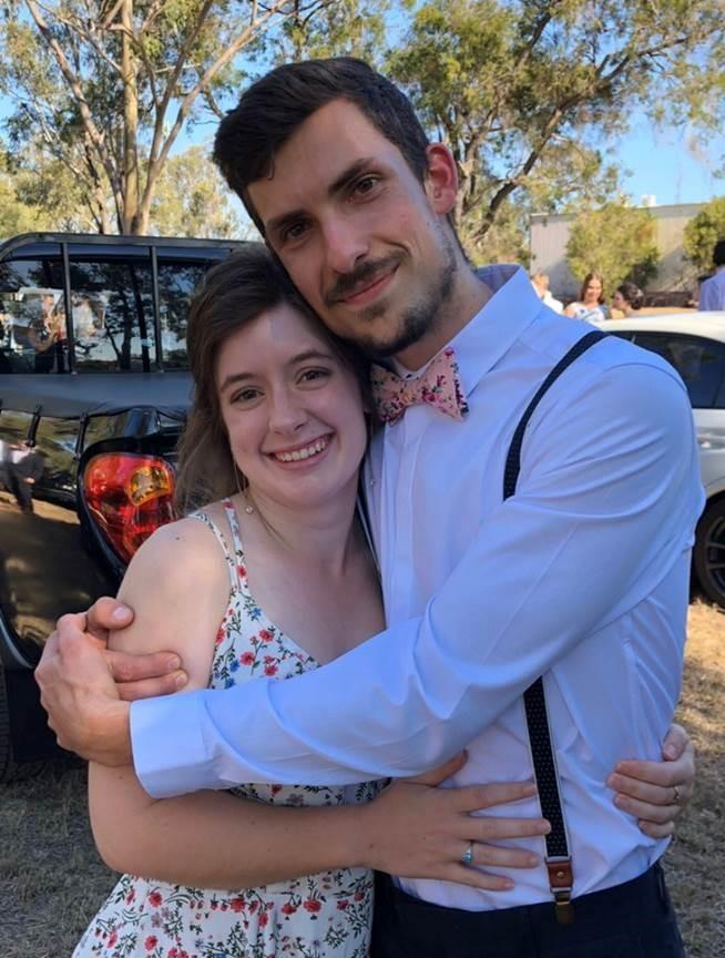 Nathanael Patson with his fiancé Sarah Morgan