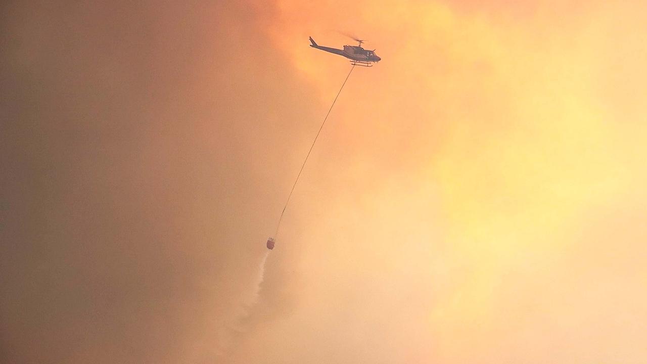 The Liberation Trail bush fire reached emergency level at Nana Glen in November last year. Photo Frank Redward