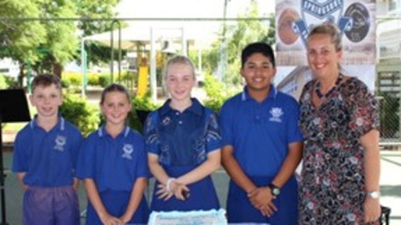School leaders with Mrs Howard.