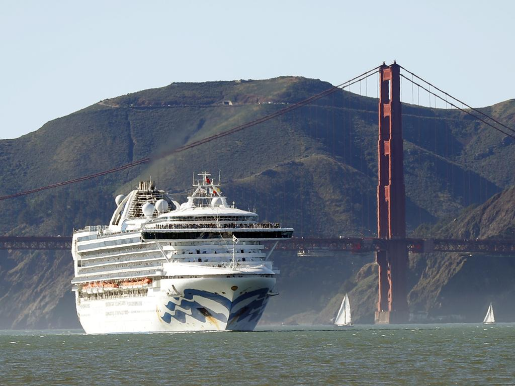 The Grand Princess is heading towards San Francisco, reportedly with infected people on board. Picture: Scott Strazzante/AP
