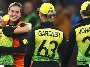 Tears of joy as injured Perry celebrates Aussie win