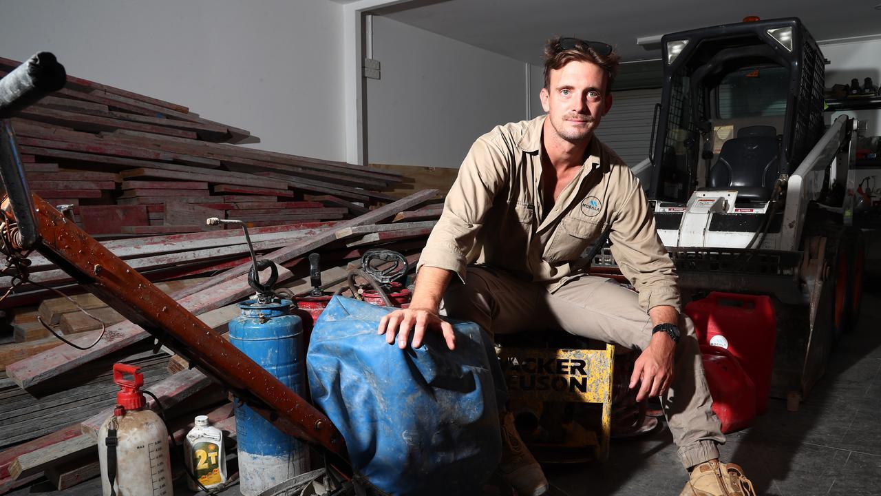 Nick Bayard at his company Underground Bunkers Australia . Photograph : Jason O'Brien