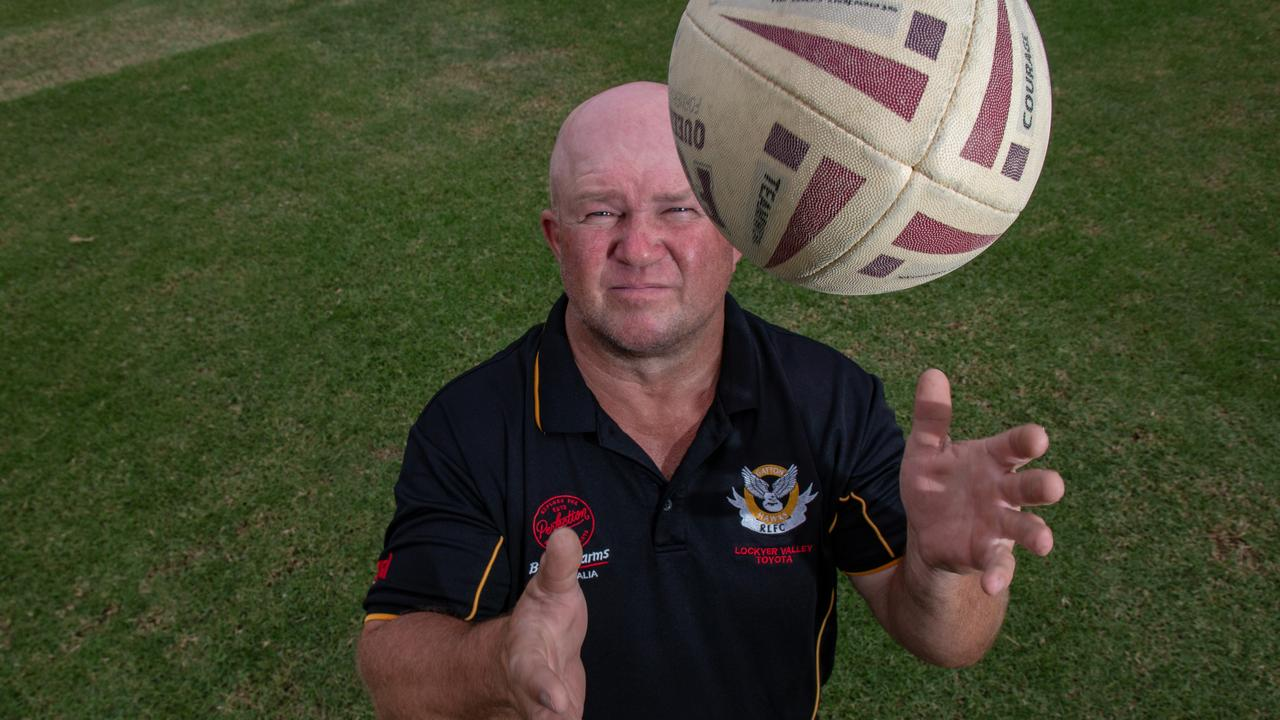 FLY HIGH: Gatton Hawks A-Grade coach Andrew Schmidt is looking forward to the challenges of this year. Picture: Dominic Elsome