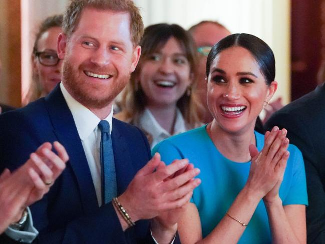 The couple cheered on a wedding proposal at the awards ceremony. Picture: Paul Edwards - WPA Pool/Getty Images Source:Getty Images