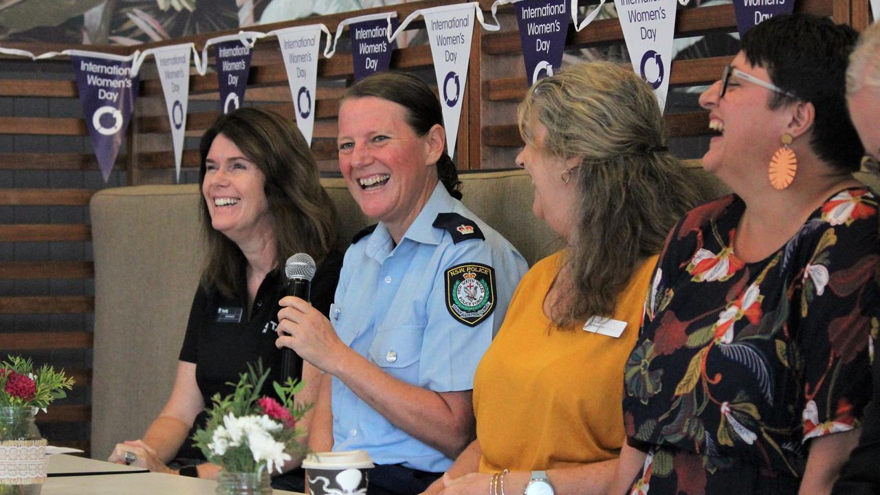 Kim Painter, Joanne Reid, Liz Fairweather and Skye Sear at the Grafton Chamber of Commerce International Women's Day Champagne Breakfast.
