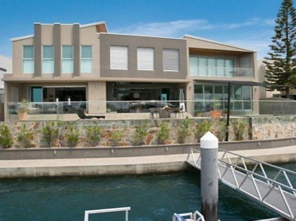 Gordon Smith's former waterfront Gold Coast mansion.