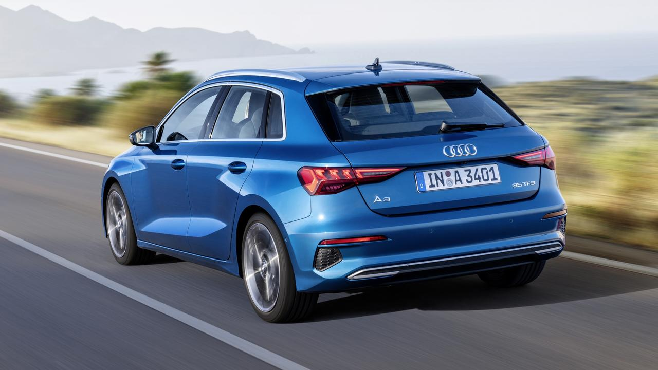 Audi's volume selling A3 hatch has an optional interior trim that uses recycled plastic bottles.