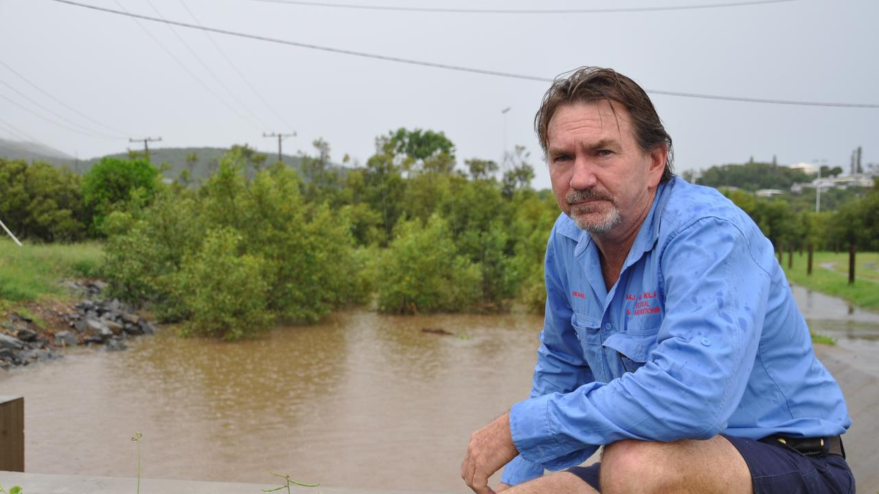 Michael Findlay is concerned about established areas, with run-off from new estates increasing water flow.