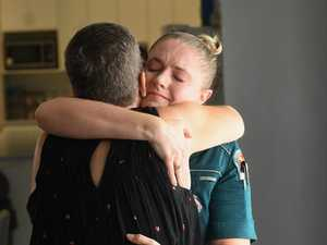 Emotional reunion with paramedics who saved her life