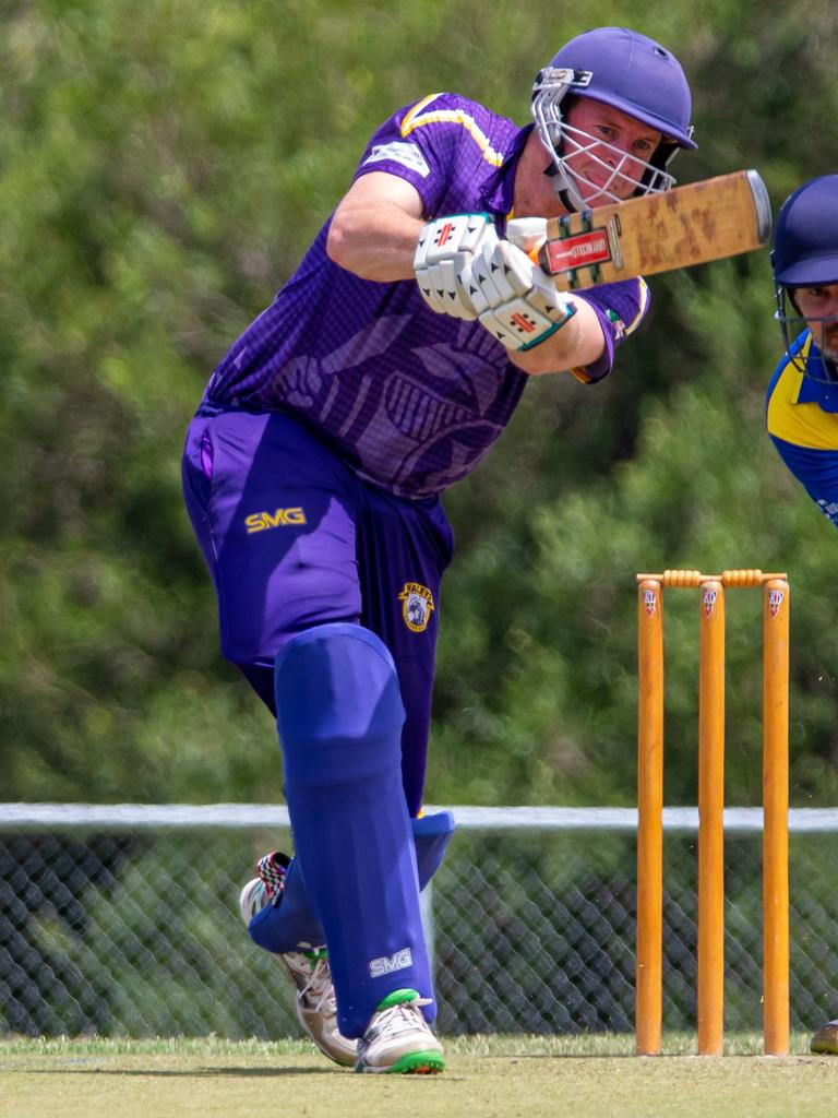 Shane Walker in action at the crease. Photo – Zahner Photography