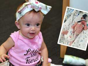 Miracle bub grows to little girl with 'big personality'