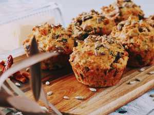 Sun-dried tomato and feta muffins