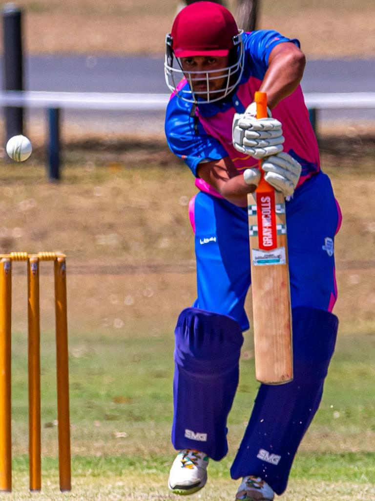 Dwayne Malone was this season's third highest scoring batsman in the Gympie Association.