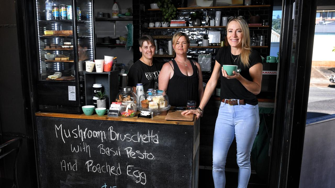 Seed coffee has been voted as having the best coffee in Ipswich. Owner Sonia Burton with chef Kim De Bruyn and barista Amanda McConnel.