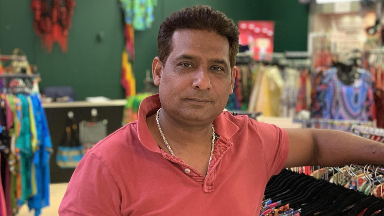 Australia Fair retailer Matahari Collections owner John Yahya said his business was suffering following the coronavirus outbreak. Photo: Emily Toxward