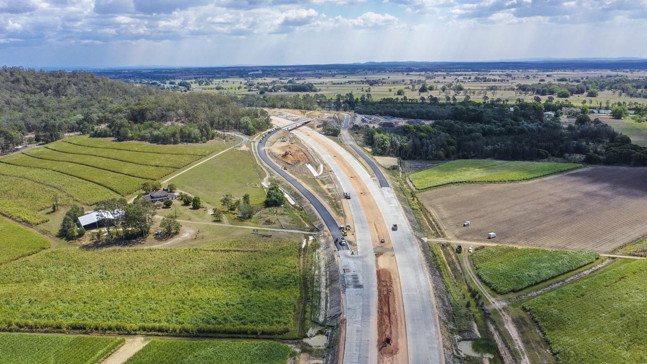 Tyndale Pacific motorway interchange looking north.