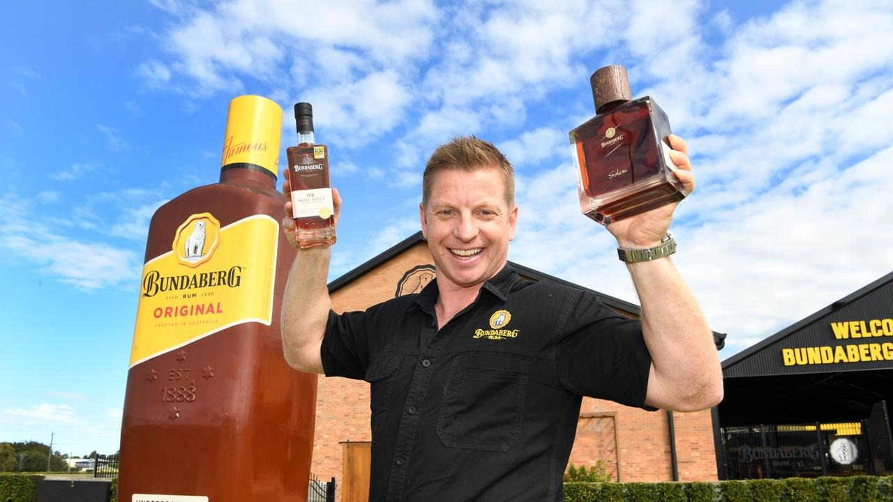 WINNERS ARE GRINNERS: Marketing and experience manager of the Bundaberg Rum Visitor Experience Duncan Littler.