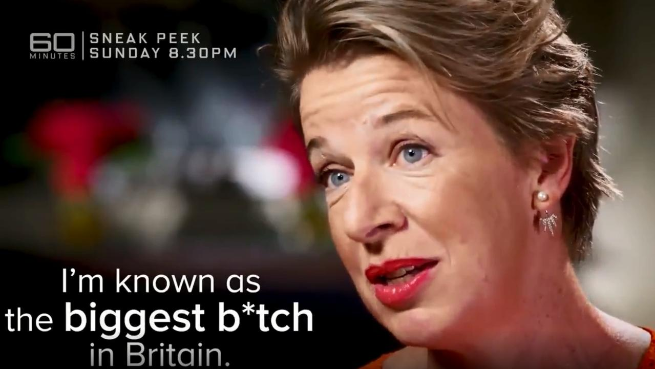Hopkins during her widely-panned 60 Minutes interview. Source: 60 Minutes