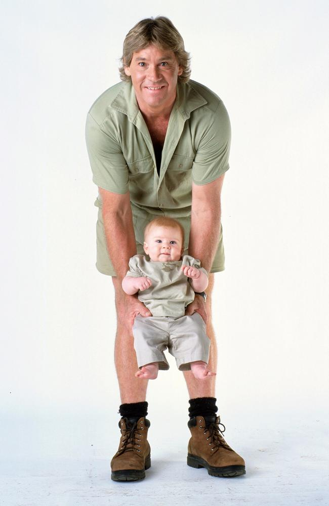 Steve Irwin with son Robert.