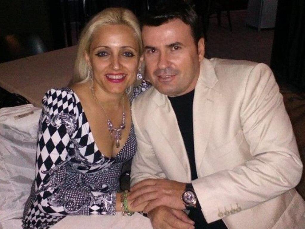 Petrit and Romina Lekaj in happier times. Picture: Facebook