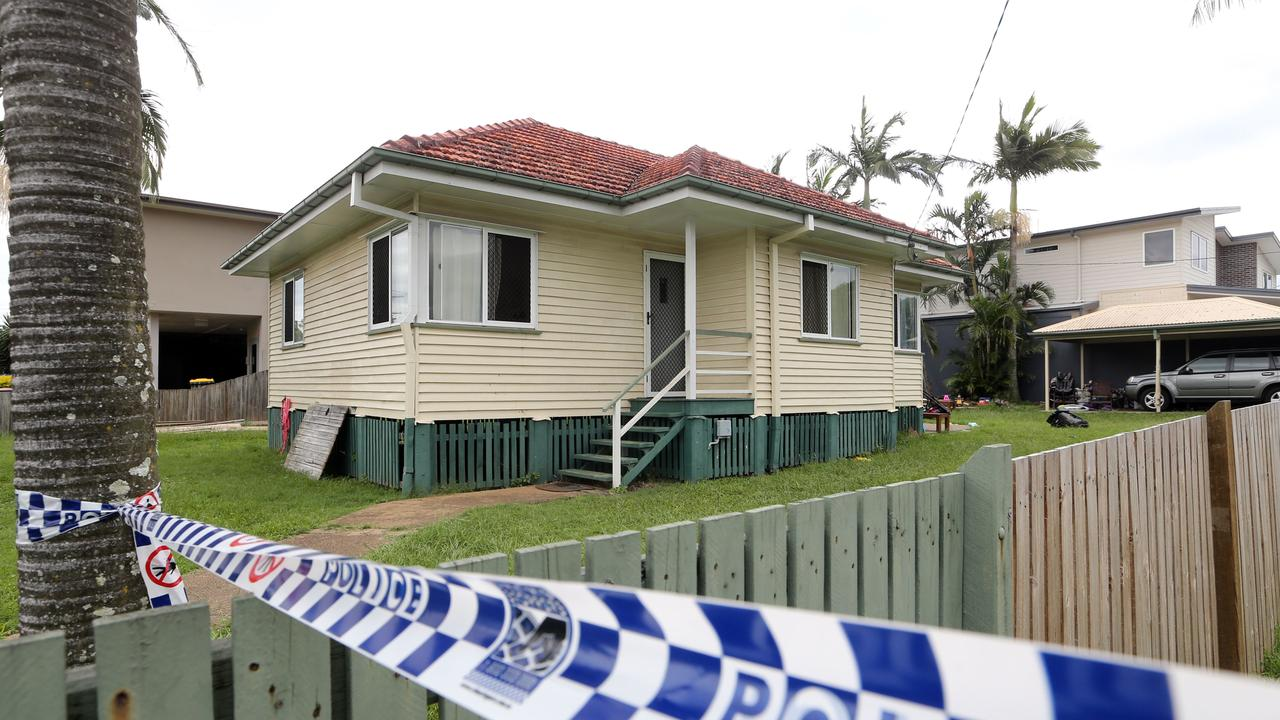 The single-level home is on a busy four-lane road, opposite Mungo Scott Park. Picture: AAP Image/Richard Gosling