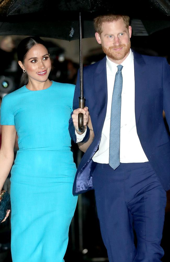 Prince Harry, Duke of Sussex and Meghan, Duchess of Sussex attend The Endeavour Fund Awards at Mansion House on in London, England. Picture: Chris Jackson/Getty Images