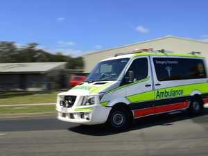 Paramedics rush man with serious head injuries to hospital
