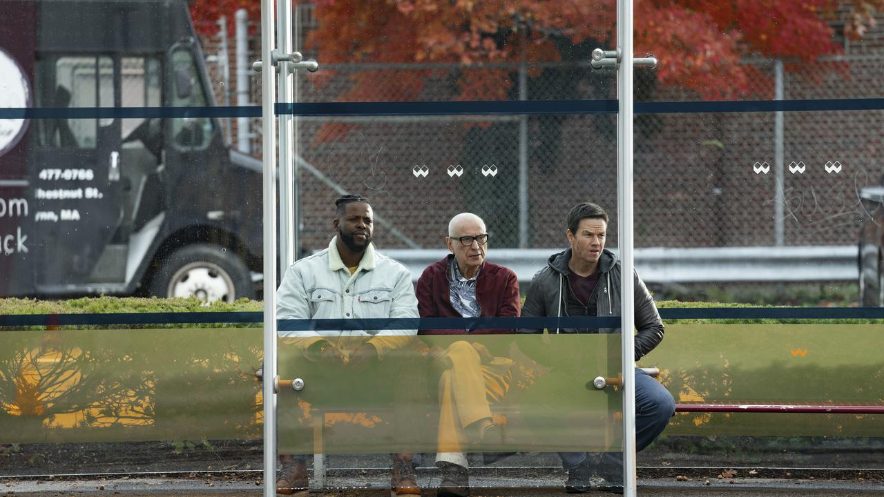 Winston Duke, Alan Arkin and Mark Wahlberg in Spenser Confidential.