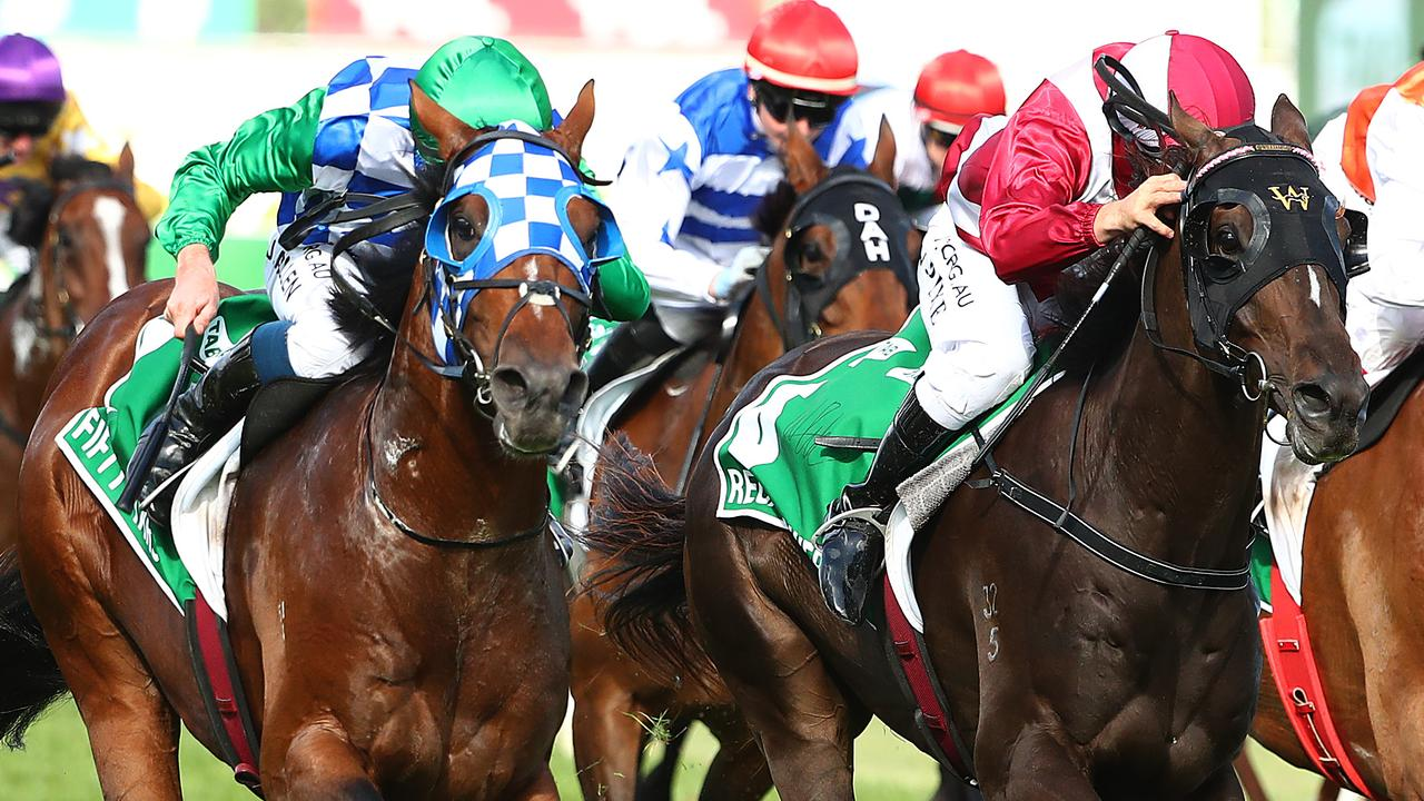 Fifty Stars (left) stormed home to win the Australian Cup. Picture: Getty Images