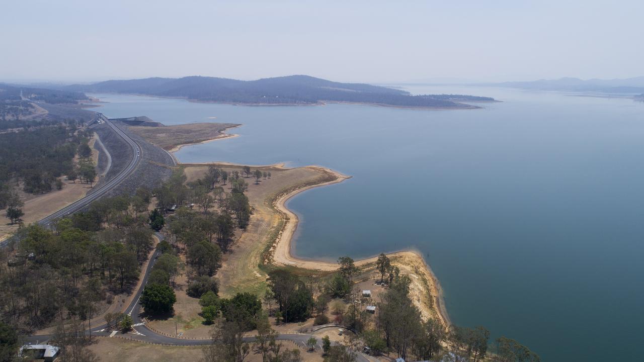 Cormorant Bay. Wivenhoe Dam.
