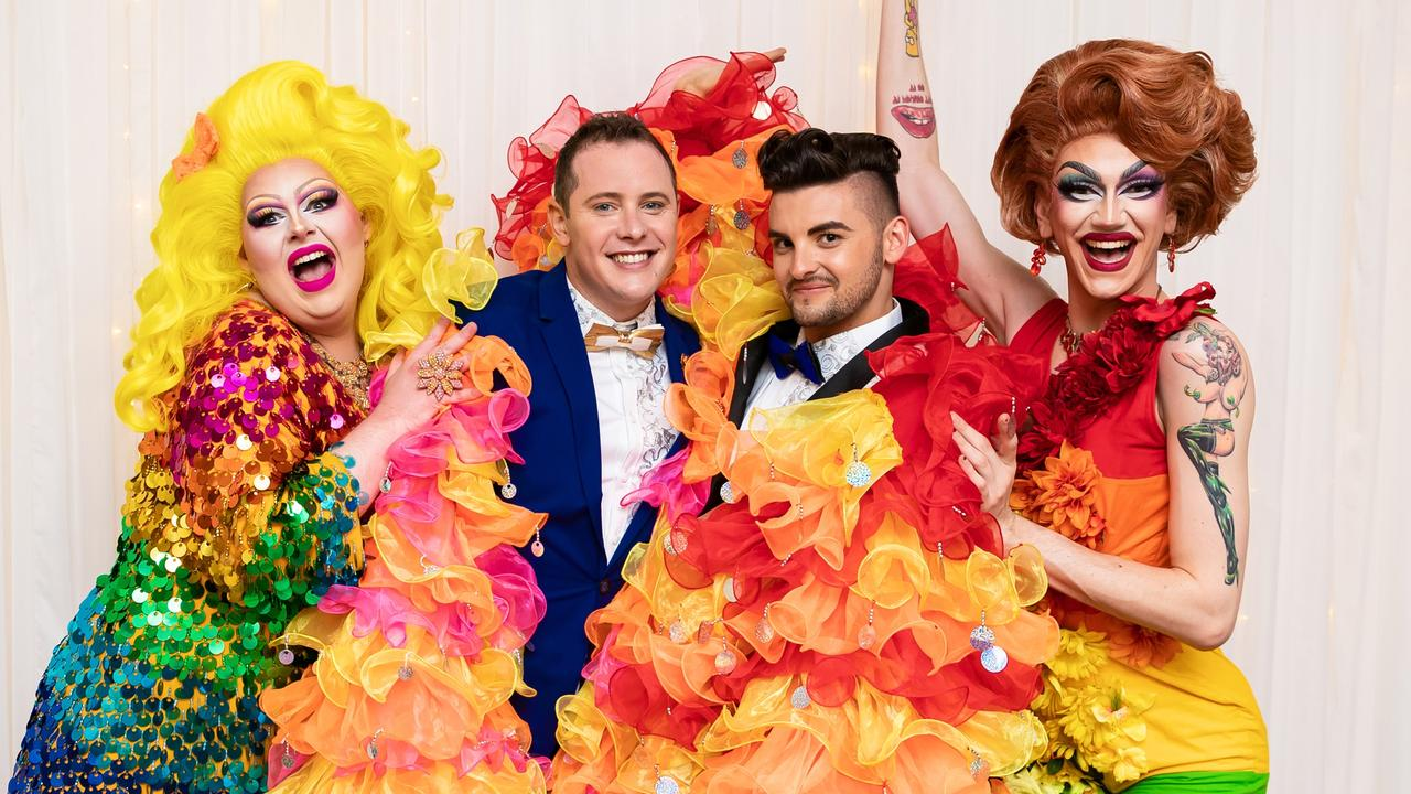 From an ancient smudging ceremony to colourful drag queens, Jay and Jayden's big day was one everyone will remember.