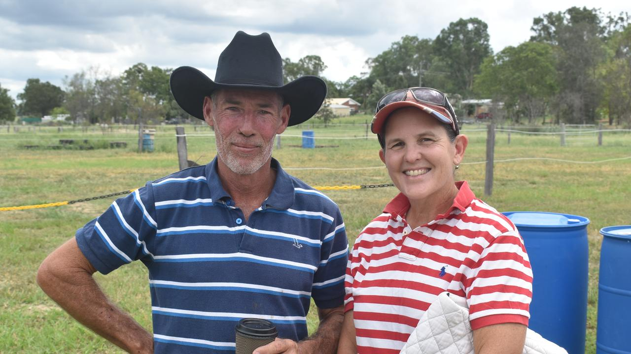 Richard Steels, and Leanne Wight at the Lockyer Valley Riding for the Disabled car boot sale fundraiser.