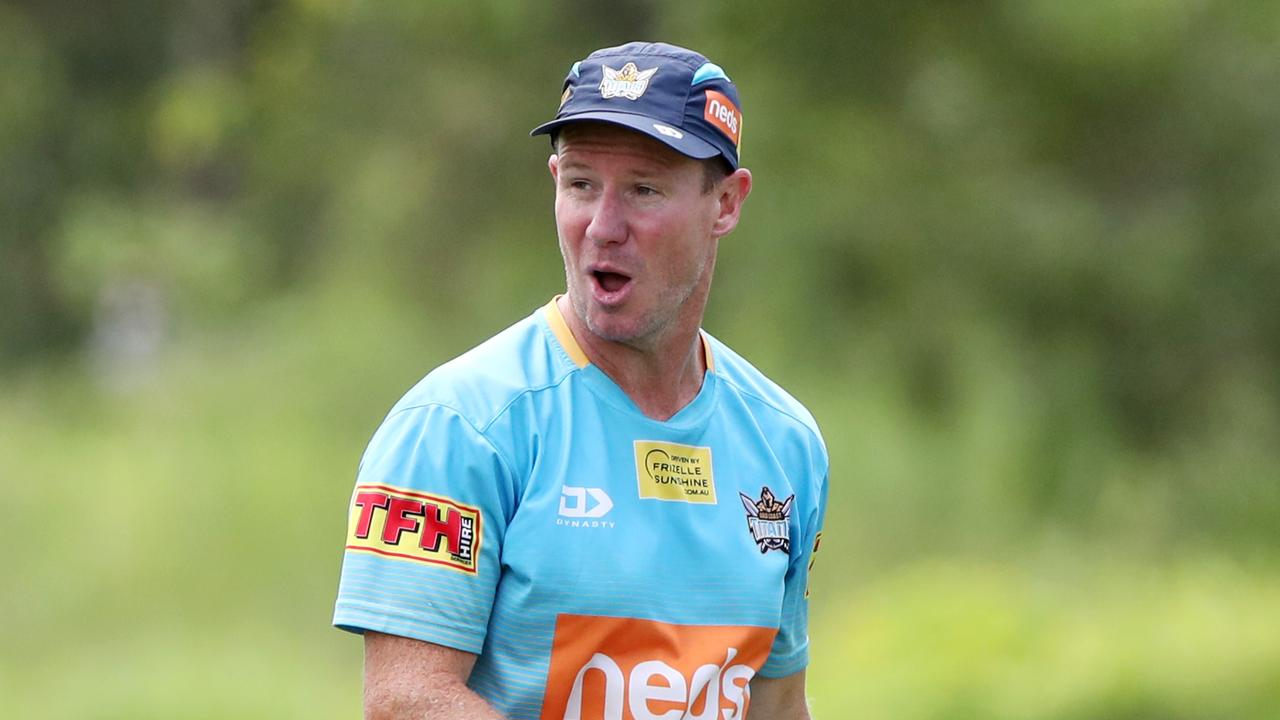 Gold Coast Titans reveal their NRL Nines side. Gold Coast Titans training. Coach Justin Holbrook. Picture: NIGEL HALLETT