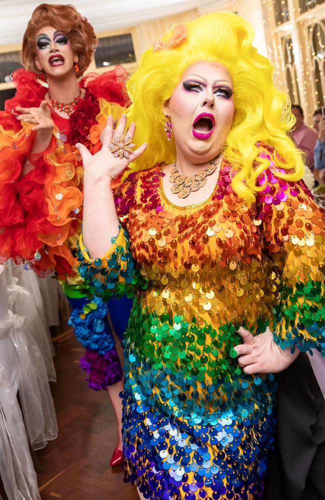 A lot of laughs: ShuShu Funtanna and Scarlett Fever, Sunshine Coast Wedding Photographer Ben Connolly
