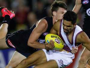 Brisbane Lions fumble then rumble against Blues