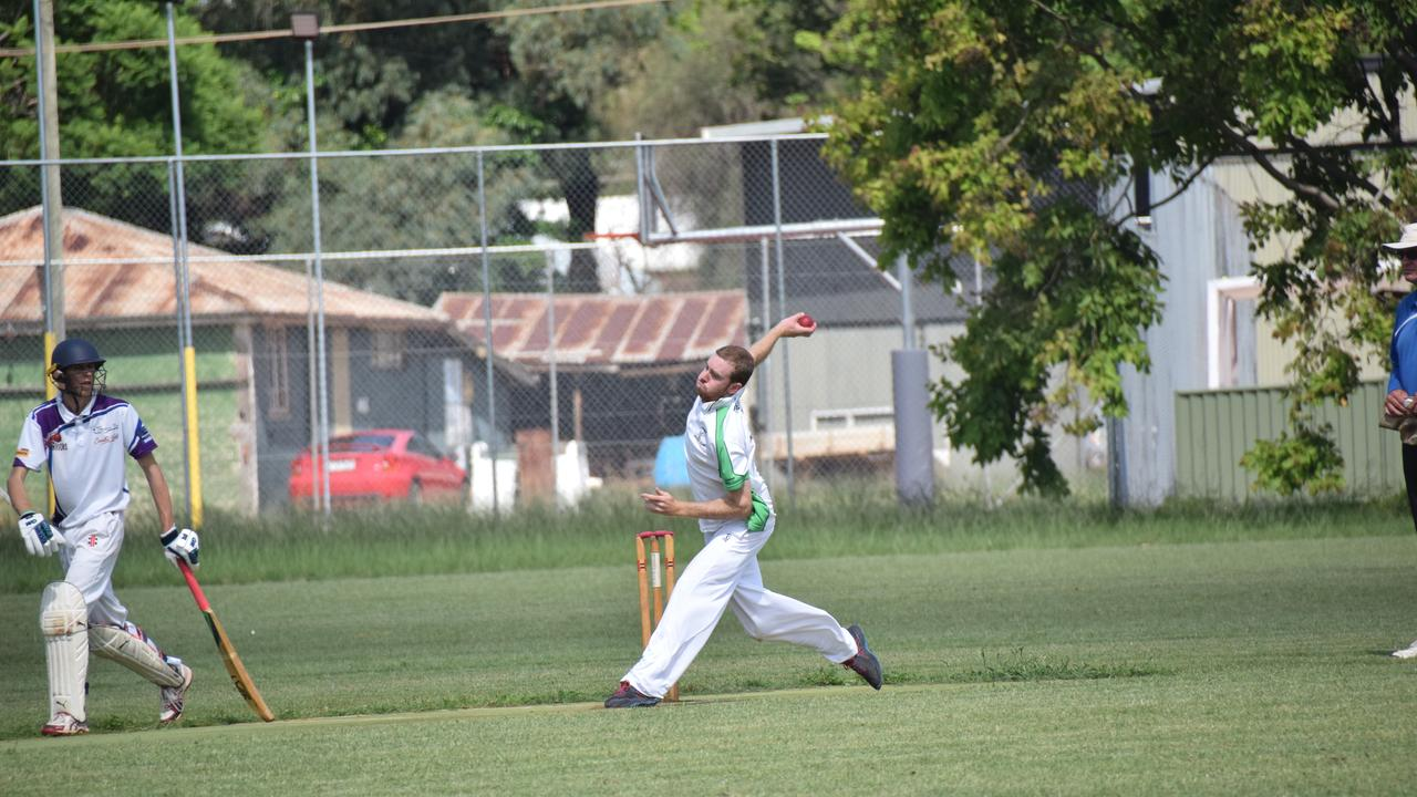 HUGE HAUL: Louis Fairbairn took four wickets against the Wooroolin Warriors on Saturday. (Picture: Tristan Evert)