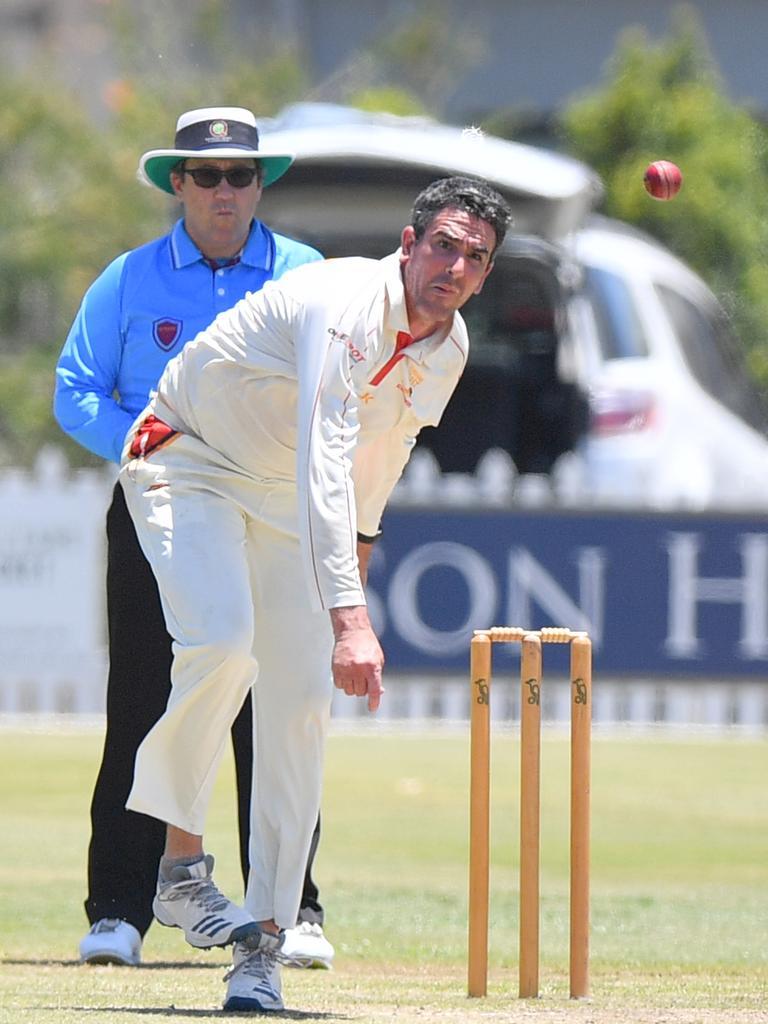 Ash Renouf sends one down. Photo: John McCutcheon / Sunshine Coast Daily