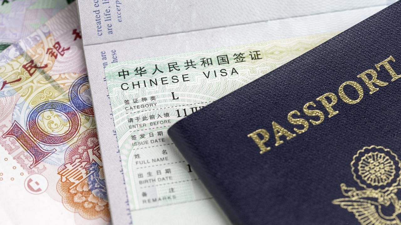 Chinese Visa with Yuan (RMB) and Passport