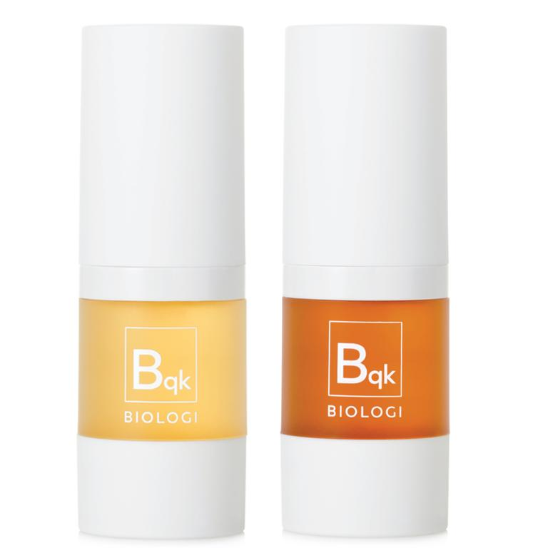 This Byron Bay brand have super minimal ingredients — featuring just two items in each of these serums. Picture: Supplied