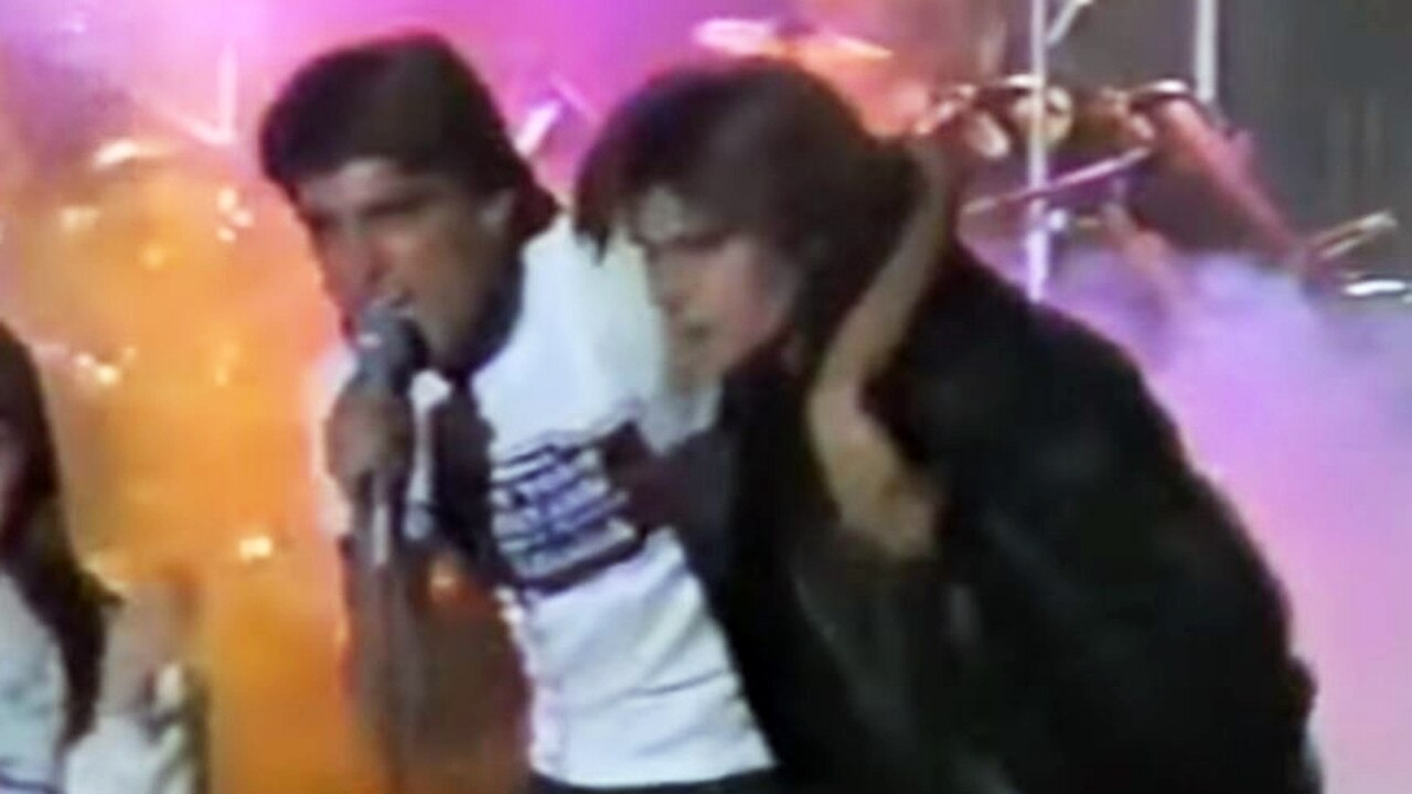 Alphy Hoffman (left) and Corey Feldman (right) at Alphy's Soda Pop Club. Picture: YouTube