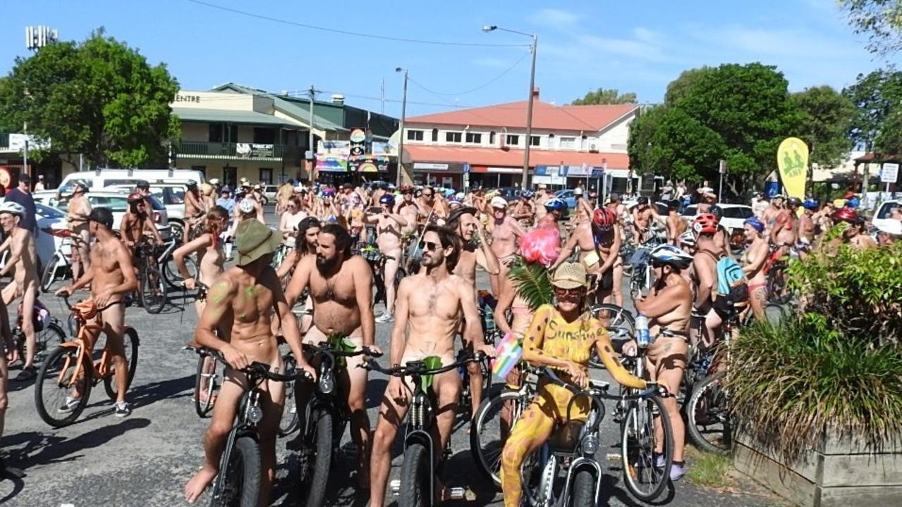 The annual World Naked Bike Ride will be held in Byron Bay this afternoon.