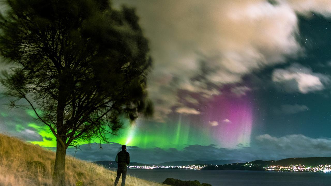 Aurora Australis at Tranmere, Tasmania. Picture: TIM GRIMSEY